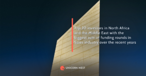 Top 20 investors in North Africa and the Middle East with the biggest sum of funding rounds in Sales industry over the recent years