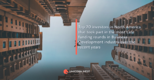 Top 20 investors in North America that took part in the most Late funding rounds in Business Development industry over the recent years