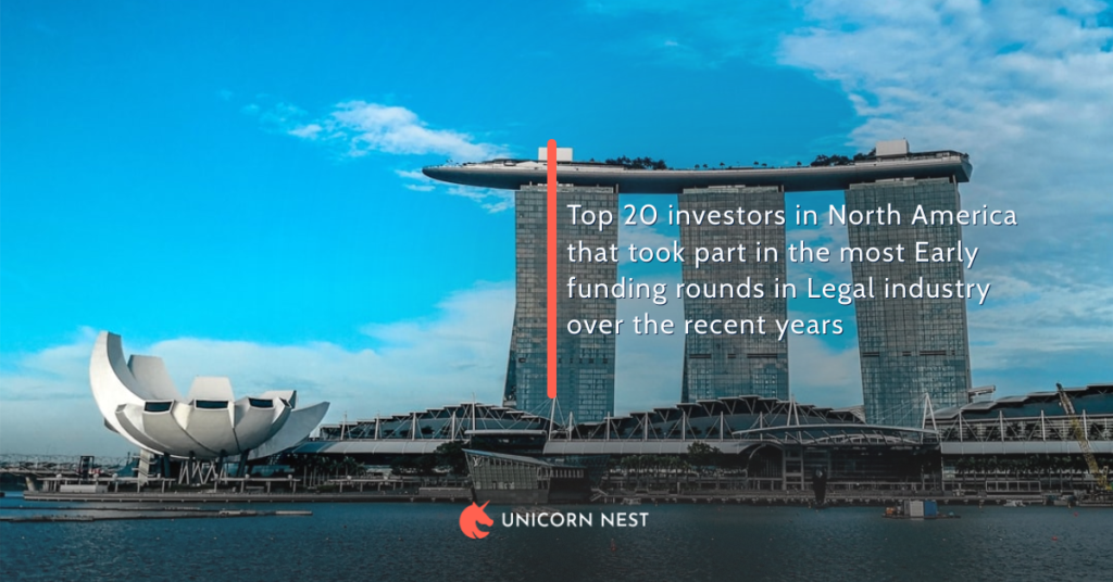 Top 20 investors in North America that took part in the most Early funding rounds in Legal industry over the recent years