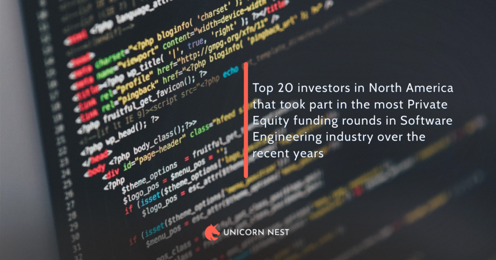 Top 20 investors in North America that took part in the most Private Equity funding rounds in Software Engineering industry over the recent years