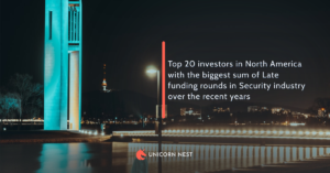 Top 20 investors in North America with the biggest sum of Late funding rounds in Security industry over the recent years