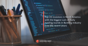 Top 20 investors in North America with the biggest sum of Early funding rounds in Banking industry over the recent years
