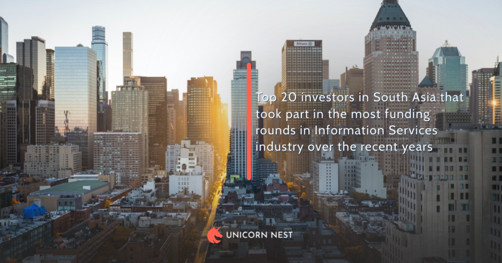 South Asia's Current Top Investors in the Information Services Industry