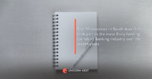 Top 20 investors in South Asia that took part in the most Early funding rounds in Banking industry over the recent years