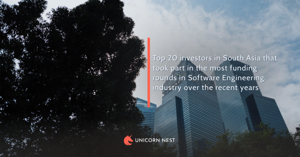 Top 20 investors in South Asia that took part in the most funding rounds in Software Engineering industry over the recent years