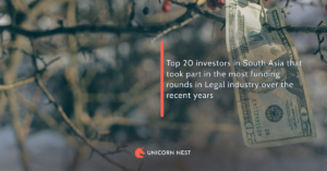 Top 20 investors in South Asia that took part in the most funding rounds in Legal industry over the recent years