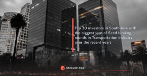 Top 20 investors in South Asia with the biggest sum of Seed funding rounds in Transportation industry over the recent years