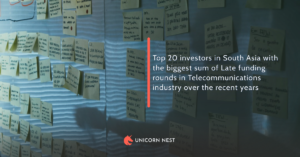 Top 20 investors in South Asia with the biggest sum of Late funding rounds in Telecommunications industry over the recent years