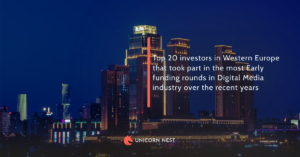 Top 20 investors in Western Europe that took part in the most Early funding rounds in Digital Media industry over the recent years