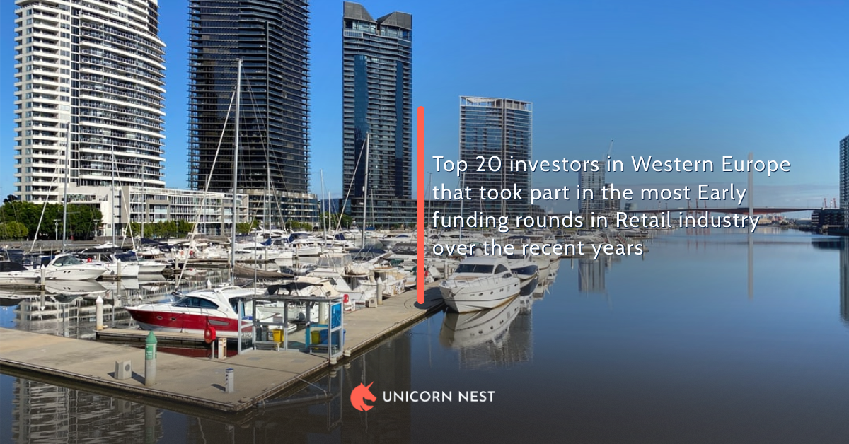 Top 20 investors in Western Europe that took part in the most Early funding rounds in Retail industry over the recent years