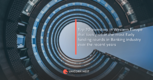 Top 20 investors in Western Europe that took part in the most Early funding rounds in Banking industry over the recent years