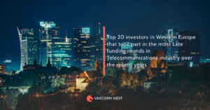 Top 20 investors in Western Europe that took part in the most Late funding rounds in Telecommunications industry over the recent years