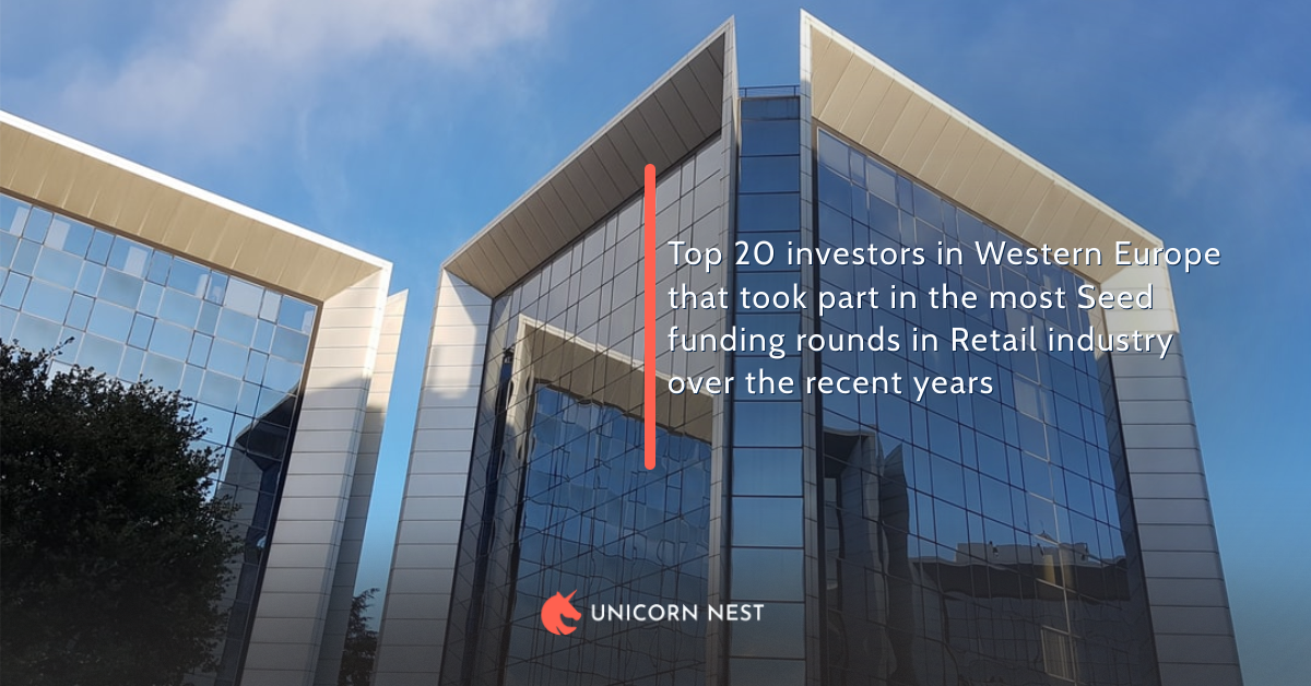 Top 20 investors in Western Europe that took part in the most Seed funding rounds in Retail industry over the recent years