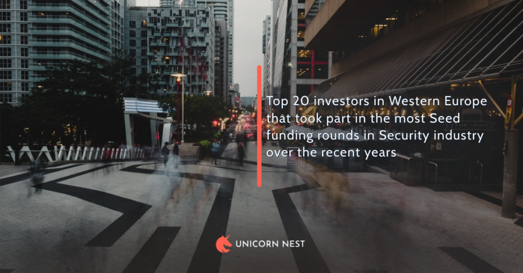 Top 20 investors in Western Europe that took part in the most Seed funding rounds in Security industry over the recent years