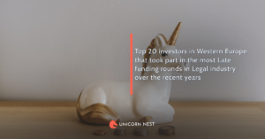 Top 20 investors in Western Europe that took part in the most Late funding rounds in Legal industry over the recent years