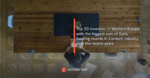 Top 20 investors in Western Europe with the biggest sum of Early funding rounds in Content industry over the recent years