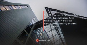 Top 20 investors in Western Europe with the biggest sum of Seed funding rounds in Business Development industry over the recent years
