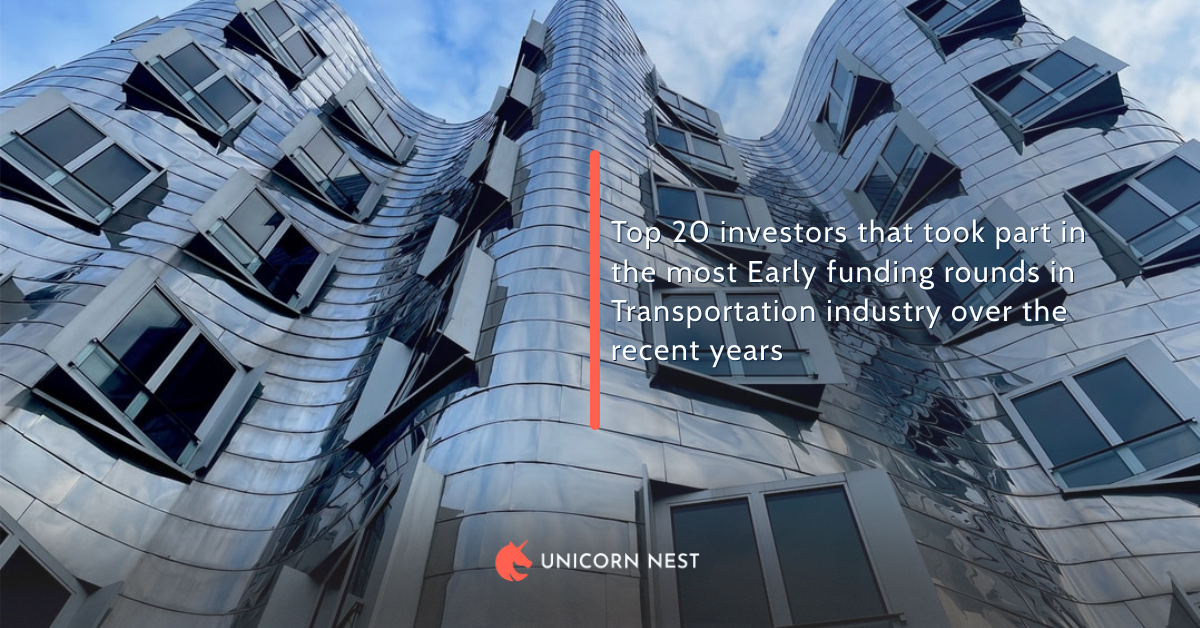 Top 20 investors that took part in the most Early funding rounds in Transportation industry over the recent years