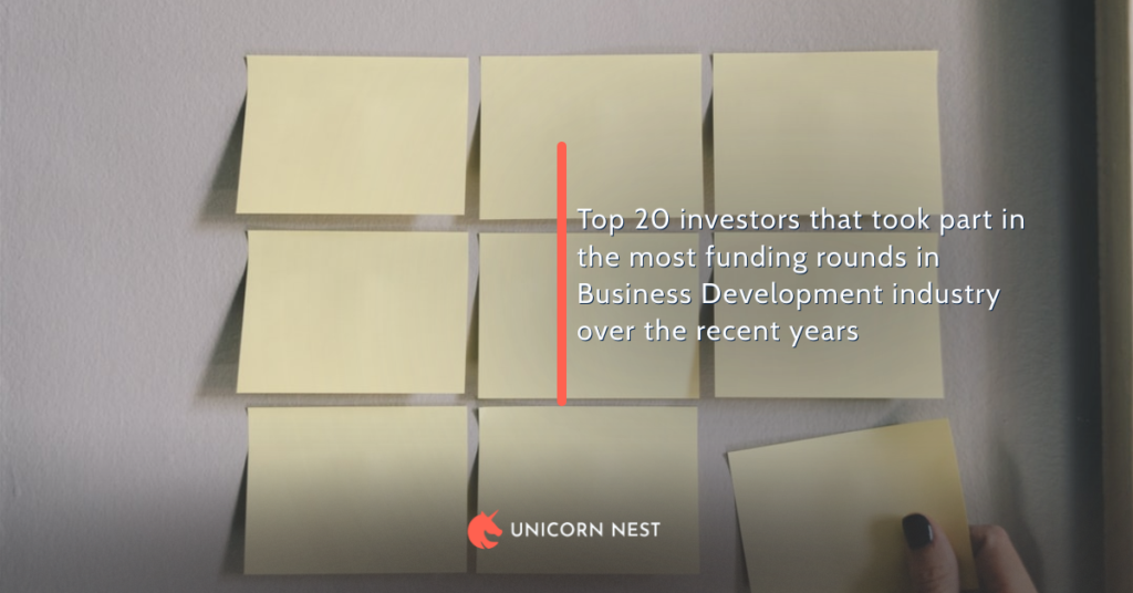 Top 20 investors that took part in the most funding rounds in Business Development industry over the recent years