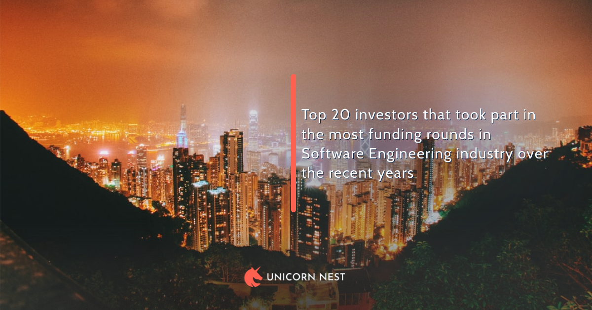 Top 20 investors that took part in the most funding rounds in Software Engineering industry over the recent years