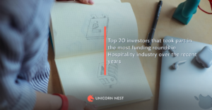 Top 20 investors that took part in the most funding rounds in Hospitality industry over the recent years