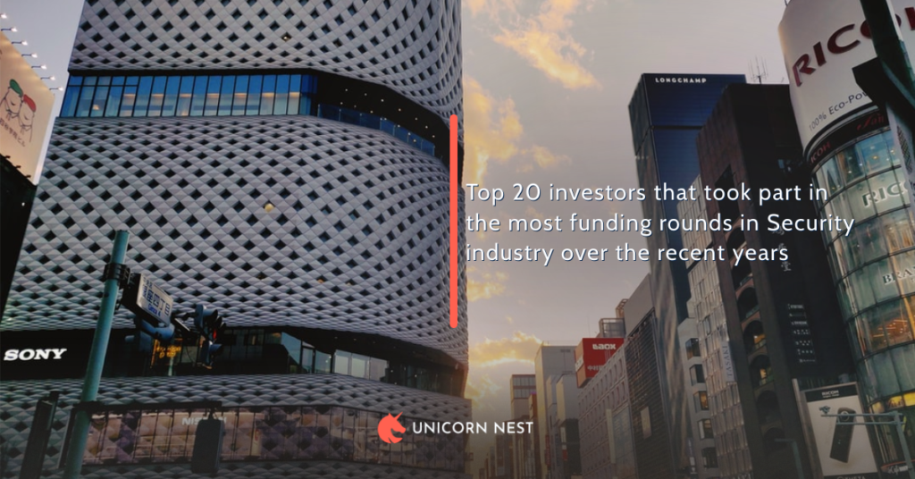 Top 20 investors that took part in the most funding rounds in Security industry over the recent years