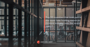 Top 20 investors that took part in the most Late funding rounds in Content industry over the recent years