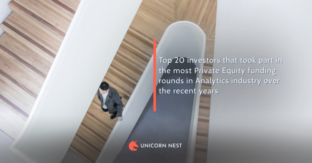 Top 20 investors that took part in the most Private Equity funding rounds in Analytics industry over the recent years