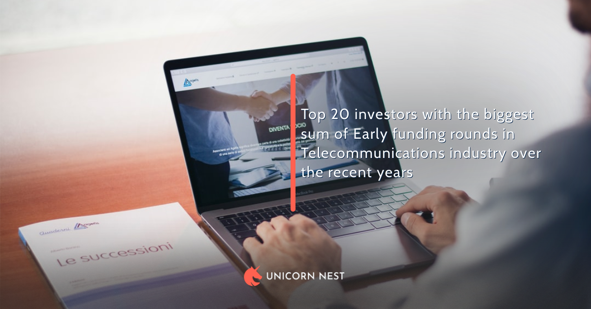 Top 20 investors  in Telecommunications industry over the recent years