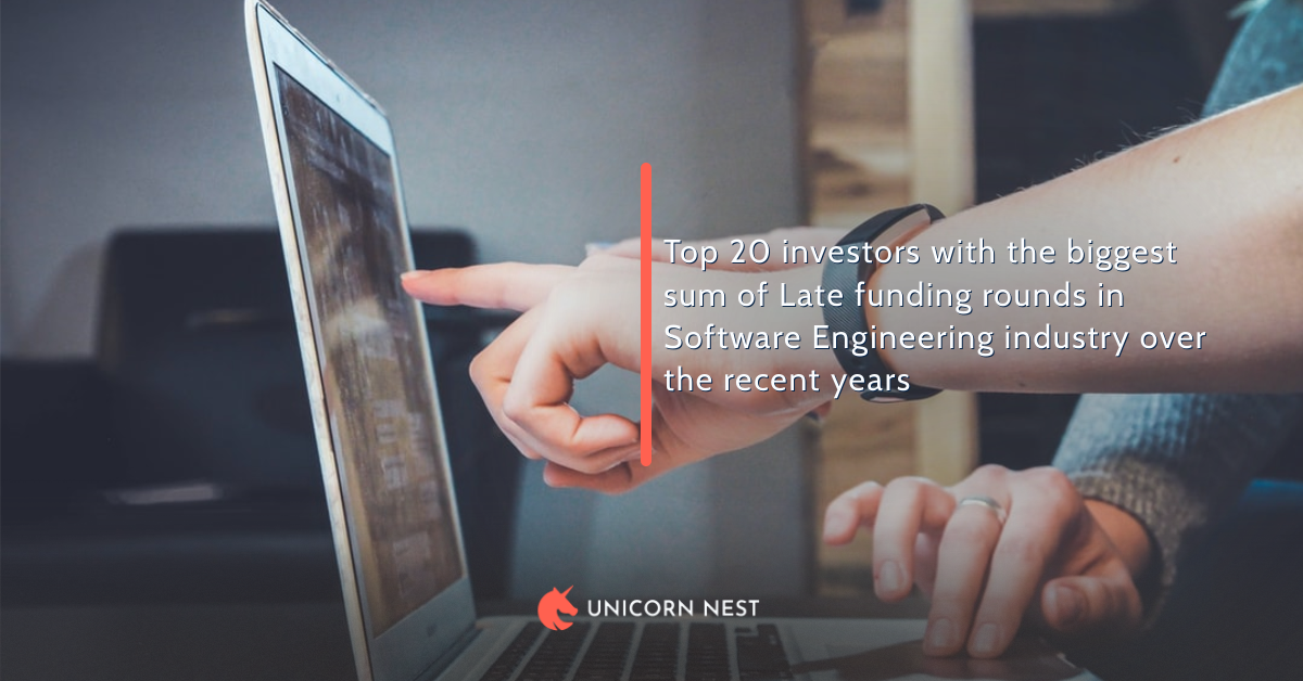Top 20 investors with the biggest sum of Late funding rounds in Software Engineering industry over the recent years