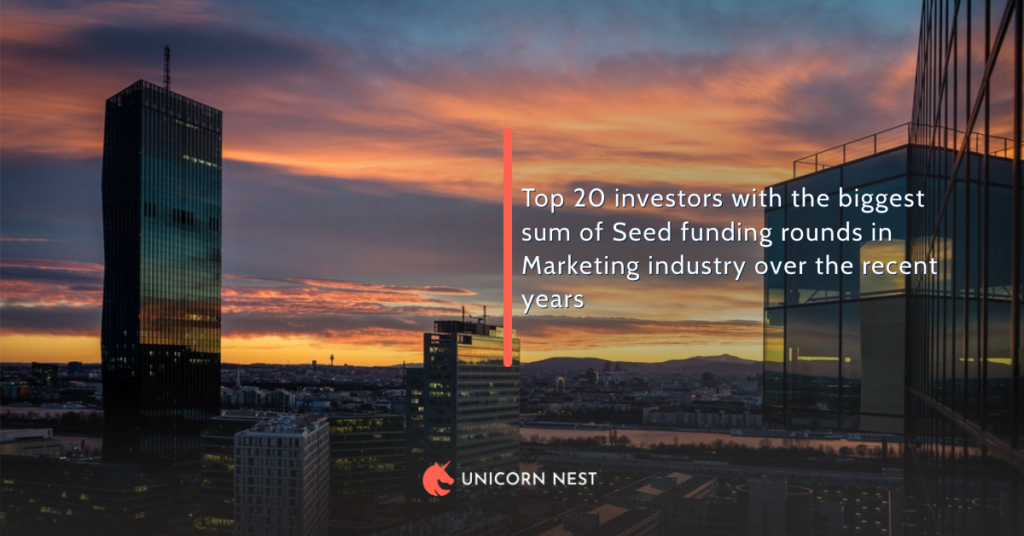 Top 20 Seed Rounds Investors in Marketing Industry