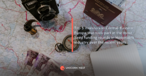 Top 5 investors in Central-Eastern Europe that took part in the most Seed funding rounds in Hospitality industry over the recent years