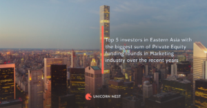 Top 5 investors in Eastern Asia with the biggest sum of Private Equity funding rounds in Marketing industry over the recent years