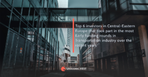 Top 6 investors in Central-Eastern Europe that took part in the most Early funding rounds in Transportation industry over the recent years