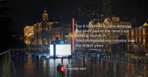 Top 6 investors in Latin America that took part in the most Late funding rounds in Telecommunications industry over the recent years