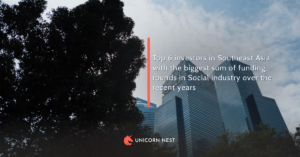 Top 6 investors in Southeast Asia with the biggest sum of funding rounds in Social industry over the recent years