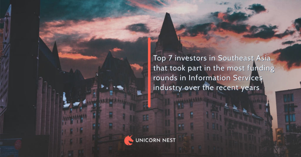 Top 7 investors in Southeast Asia that took part in the most funding rounds in Information Services industry over the recent years