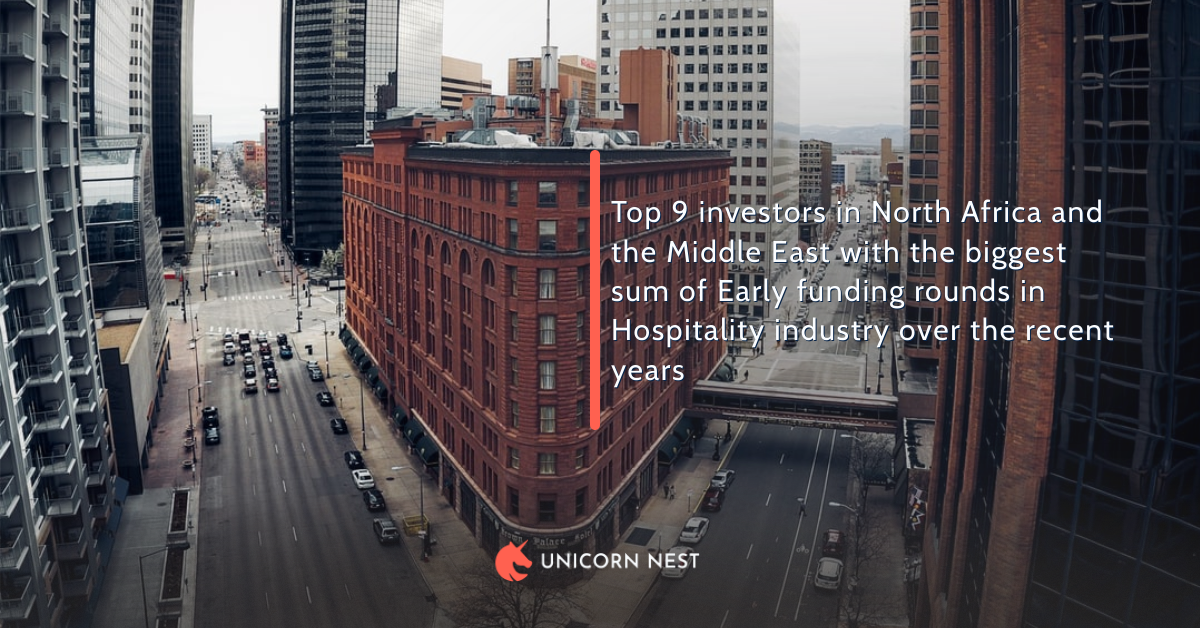 Top 9 investors in North Africa and the Middle East with the biggest sum of Early funding rounds in Hospitality industry over the recent years