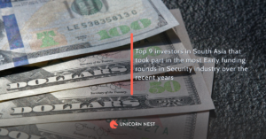 Top 9 investors in South Asia that took part in the most Early funding rounds in Security industry over the recent years