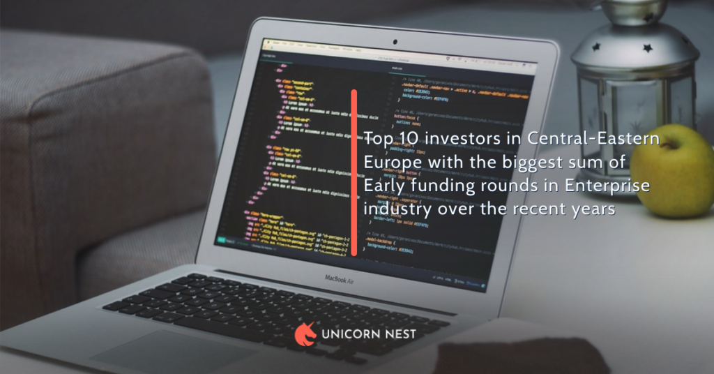 Top 10 investors in Central-Eastern Europe with the biggest sum of Early funding rounds in Enterprise industry over the recent years