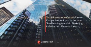 Top 11 investors in Central-Eastern Europe that took part in the most Seed funding rounds in Marketing industry over the recent years