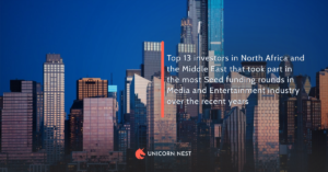 Top 13 investors in North Africa and the Middle East that took part in the most Seed funding rounds in Media and Entertainment industry over the recent years