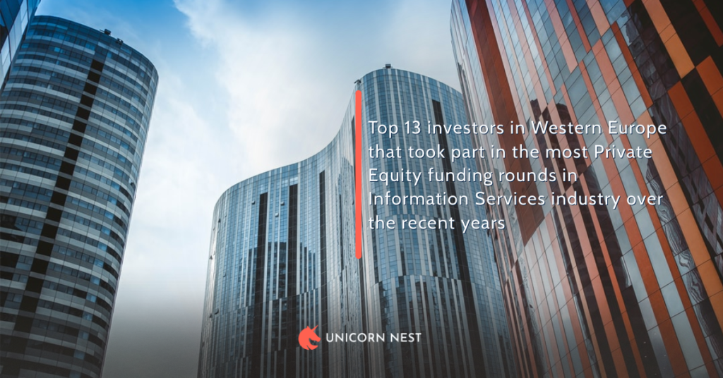 Top 13 investors in Western Europe that took part in the most Private Equity funding rounds in Information Services industry over the recent years
