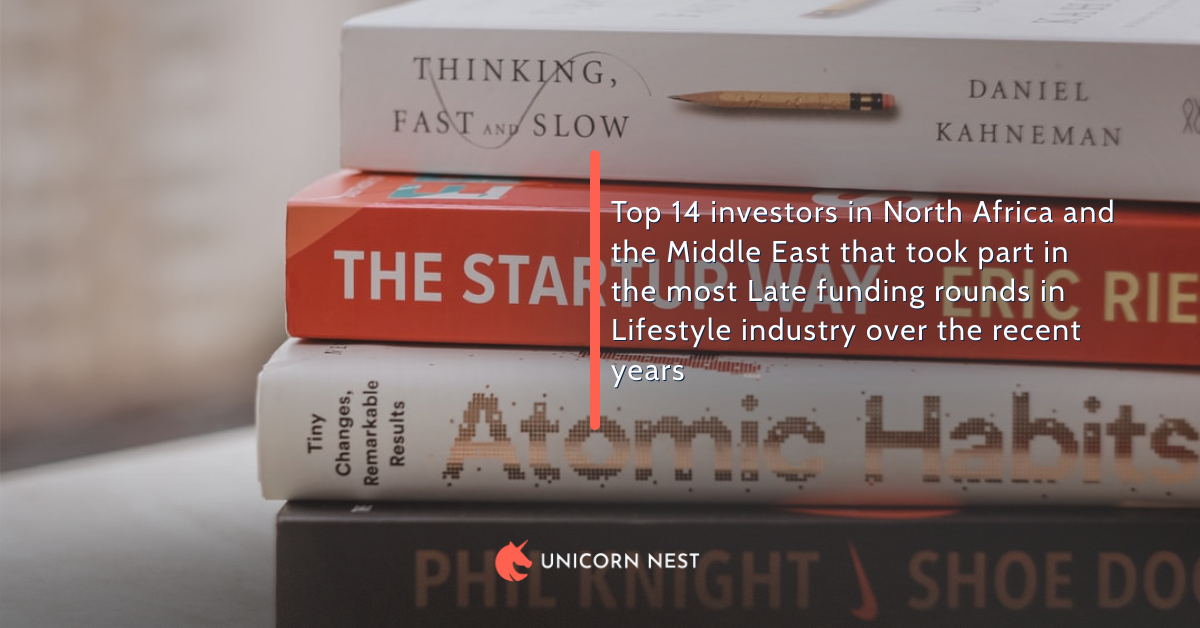 Top 14 investors in North Africa and the Middle East that took part in the most Late funding rounds in Lifestyle industry over the recent years