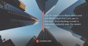 Top 15 investors in North Africa and the Middle East that took part in the most Early funding rounds in Education industry over the recent years