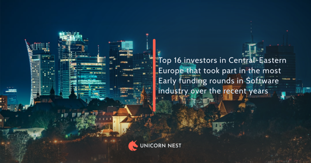 Top 16 investors in Central-Eastern Europe that took part in the most Early funding rounds in Software industry over the recent years