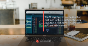 Top 16 investors in South Asia that took part in the most Seed funding rounds in Civil Engineering industry over the recent years