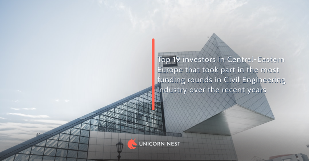 Top 19 investors in Central-Eastern Europe that took part in the most funding rounds in Civil Engineering industry over the recent years