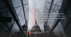 Top 20 investors in Australia and Oceania that took part in the most funding rounds in Delivery industry over the recent years