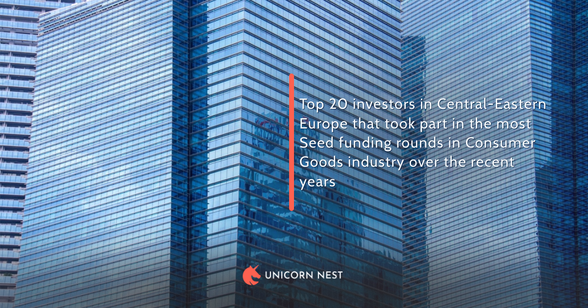 Top 20 investors in Central-Eastern Europe that took part in the most Seed funding rounds in Consumer Goods industry over the recent years